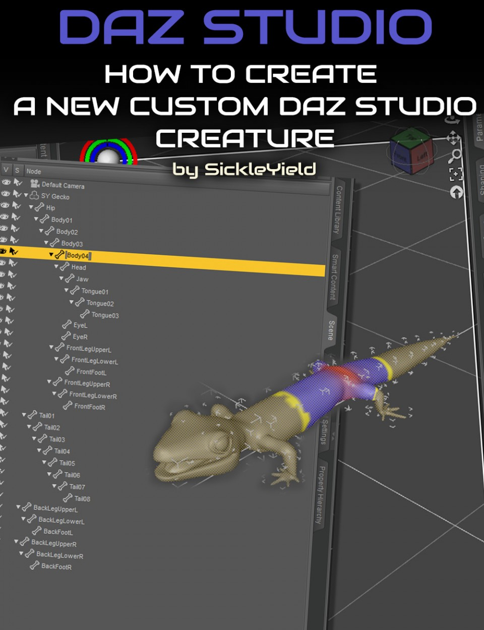 How to Create a New Daz Studio Custom Creature
