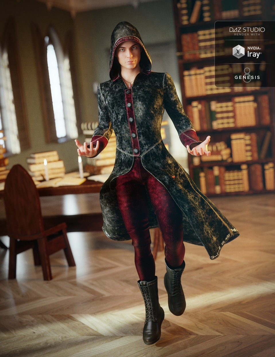 Wizard Apprentice Outfit for Genesis 8 Male