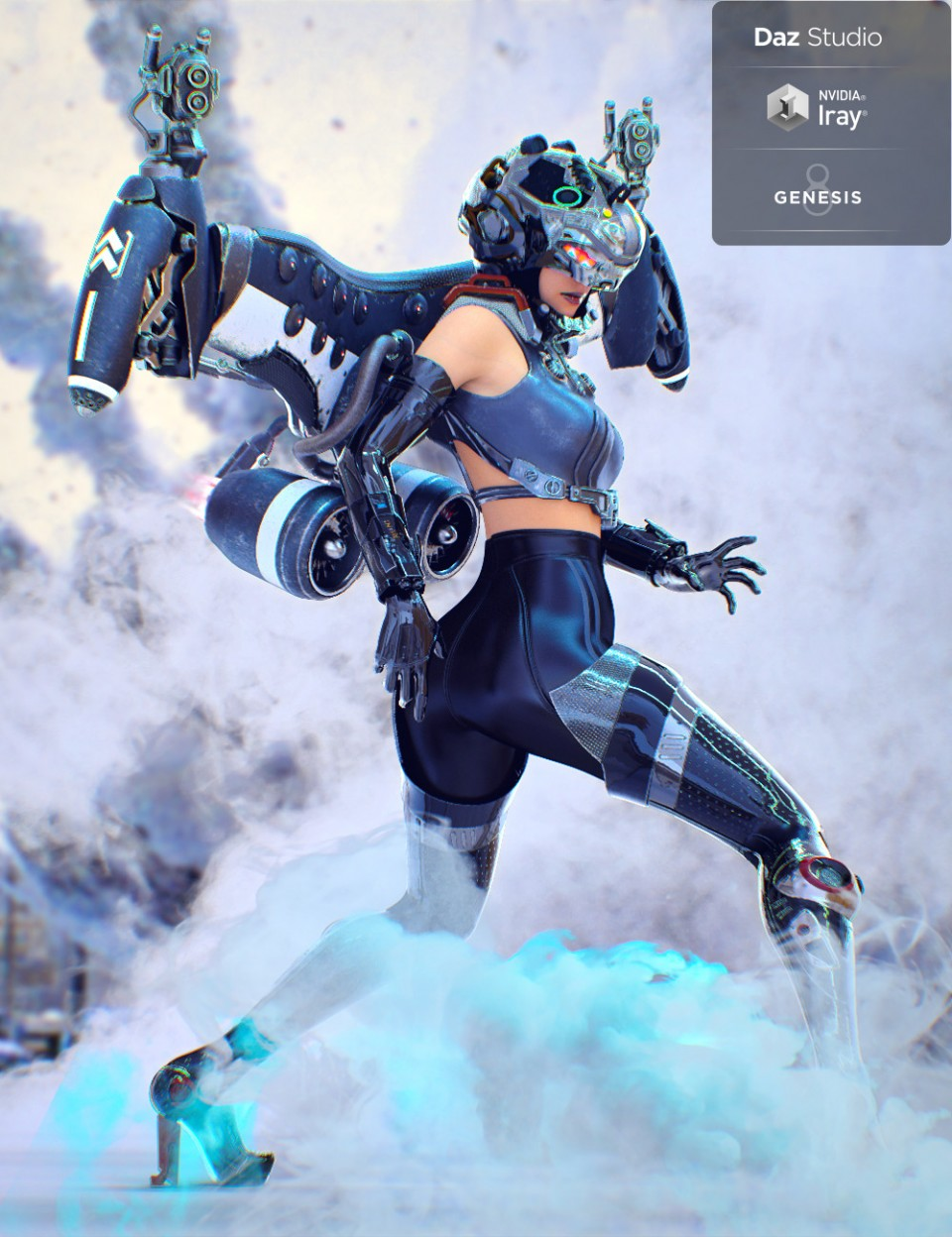 "Jet Pack ""Hyoga"" for Genesis 8 Female"