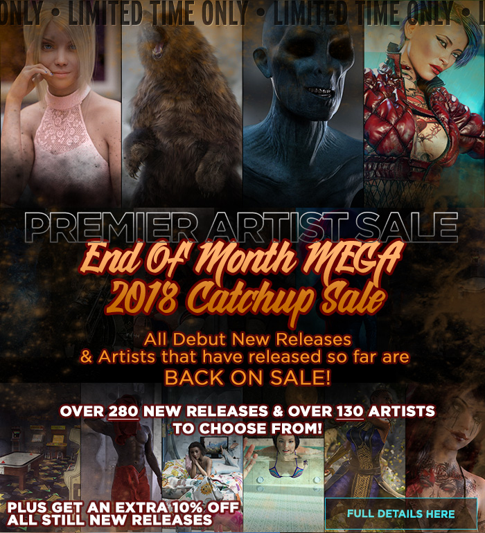 Daz3D End of Month MEGA 2018 Catchup Sale