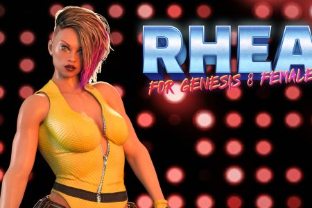 Rhea (for Genesis 8 Female) – 3D Model